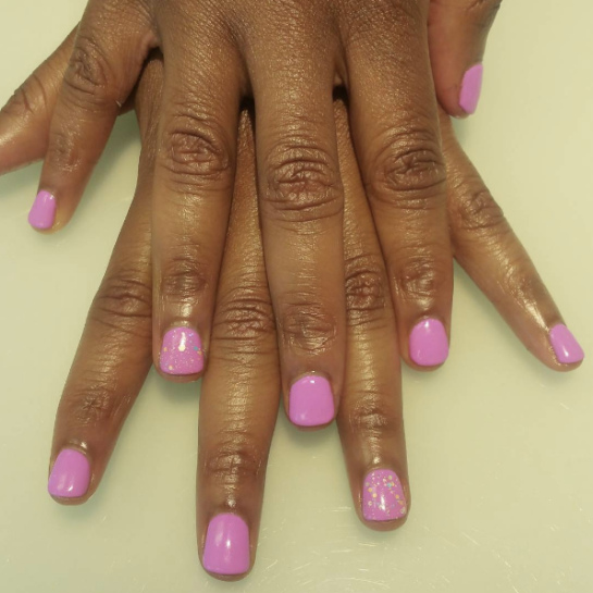 "IBD ""Chic to Chic"" with an accent of Gel ish ""Candy Coated Sprinkles"""